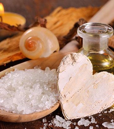 Wellnessprodukte, Saunasalze, Aufgusskonzentrate, Saunacremes